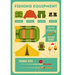 Fishing equipment vector