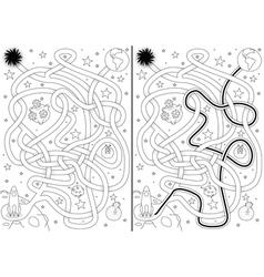 Space maze vector