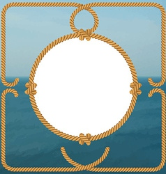 Sea frame with rope vector