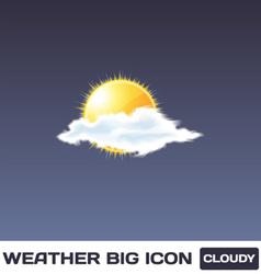 Cloudy icon vector