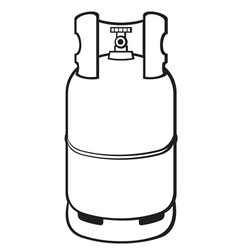A propane gas cylinder vector