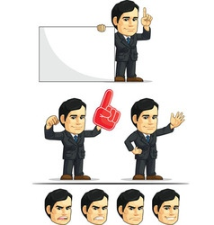 Businessman or company executive customizable 5 vector