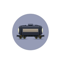 Icon railway car the tank for transportation vector