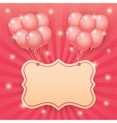 Balloon starburst background vector