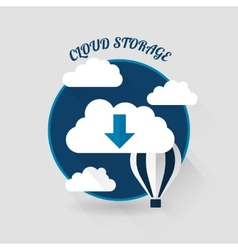 Flat design of the cloud storage vector