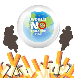 World no tobacco day poster vector