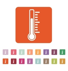 The thermometer icon thermometer symbol flat vector