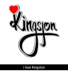 Kingston greetings hand lettering calligraphy vector