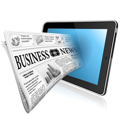 Concept - digital news witn newspaper and tablet p vector