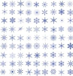 99 snowflakes vector