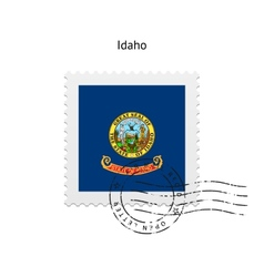 State of idaho flag postage stamp vector