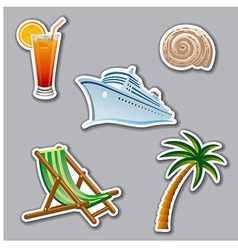 Vacation stickers vector