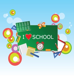 School green table with symbol vector