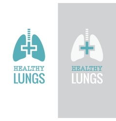 Healthy lungs vector