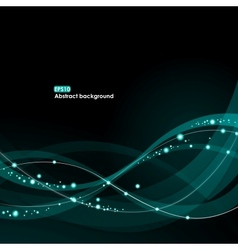 Eps10 glowing waves background vector