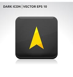 Navigation gps arrow icon gold vector