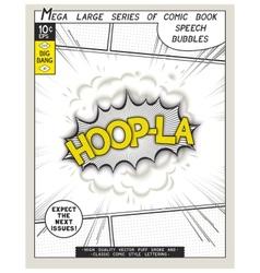 Series comics speech bubble vector
