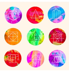 Geometric circles vector