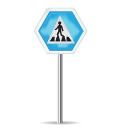 Road sign pedestrian crossing vector