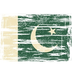 Pakistan grunge flag vector