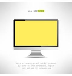 Realictic lcd monitor computer display tv screen vector