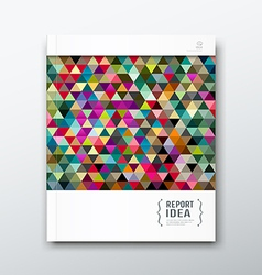 Annual report abstract colorful triangle geometric vector