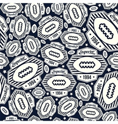 Seamless pattern rugby emblem vector