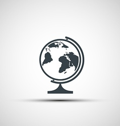 Icons of school globe vector