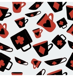 Cups cards suits from alice adventures vector