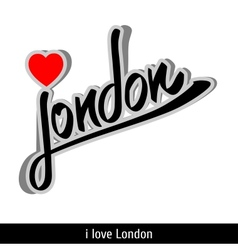 London greetings hand lettering calligraphy vector