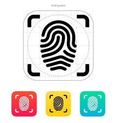 Scanning finger icon vector