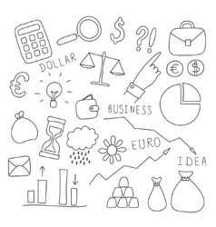 Set of business and finance elements vector