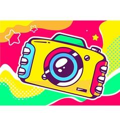 Yellow photo camera vector