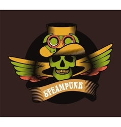 Steampunk skull vector