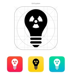 Atomic light icon vector