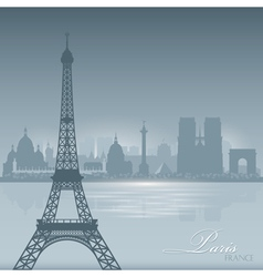 Paris france skyline city silhouette background vector