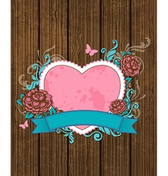Vintage card for valentines day vector