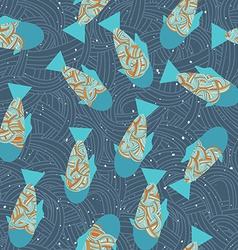 Fish in sea underwater pattern seamless texture vector