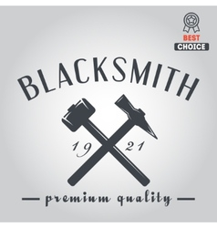 Logo for blacksmith typographic logotype badge vector