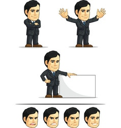 Businessman or company executive customizable 6 vector