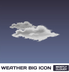 Mostly cloudy icon vector