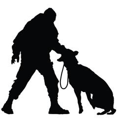 Police dog vector