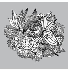 Hand-drawn paisley pattern seamless background vector
