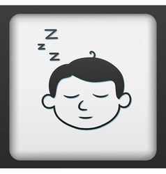 Sleep button vector