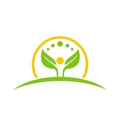 Ecology life green nature logo vector