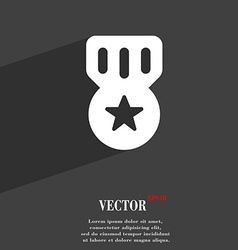 Award medal of honor icon symbol flat modern web vector