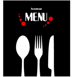Simple restaurant menu design vector