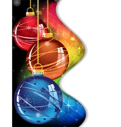 Spectral christmas background vector