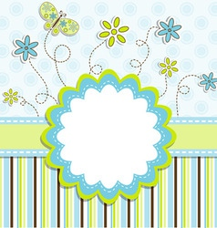 Greeting card design vector