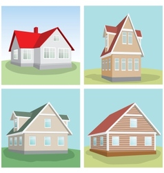 House on a green hill vector